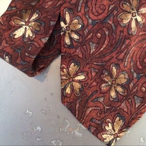Barbara Blank silk floral artisan tie